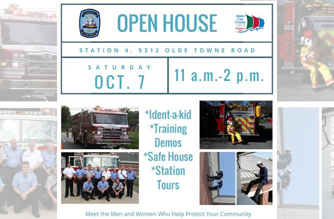 Fire Department Open House Oct. 7 11 a.m.-2 p.m. Station 4