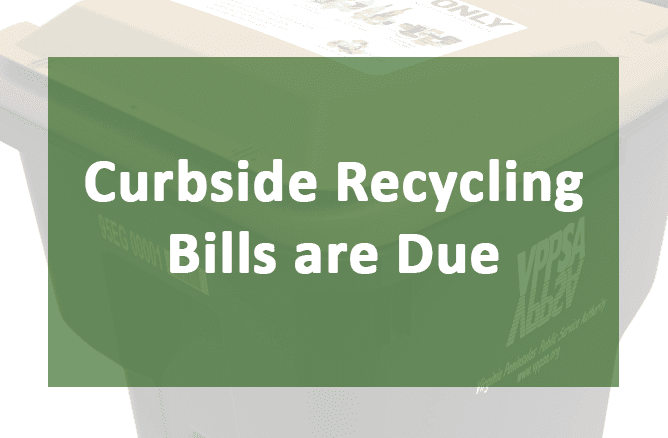 Curbside Recycling Bills are Due